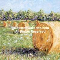 Painting - Hay Rolls