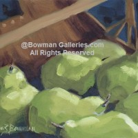 Painting - Pears In Basket