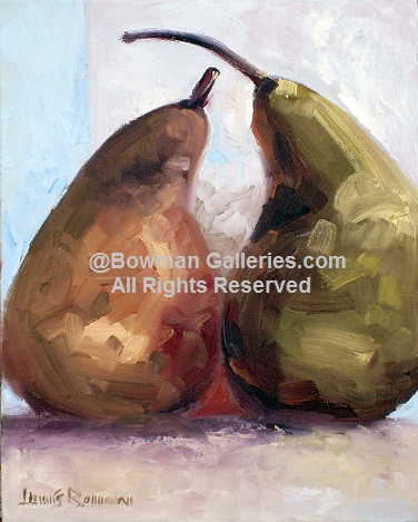 Painting - Pears Two