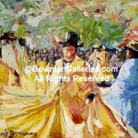 Painting - The Dance At La Plaz