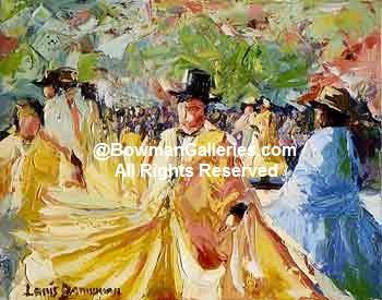 Painting - The Dance At La Plaz